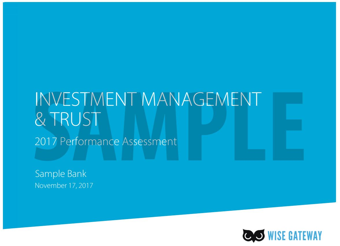 2017 Investment Management and Trust Performance Assessment